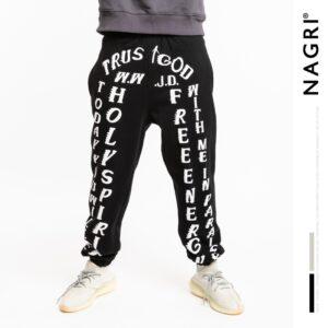 Jesus Is King Trust God Printed Pants