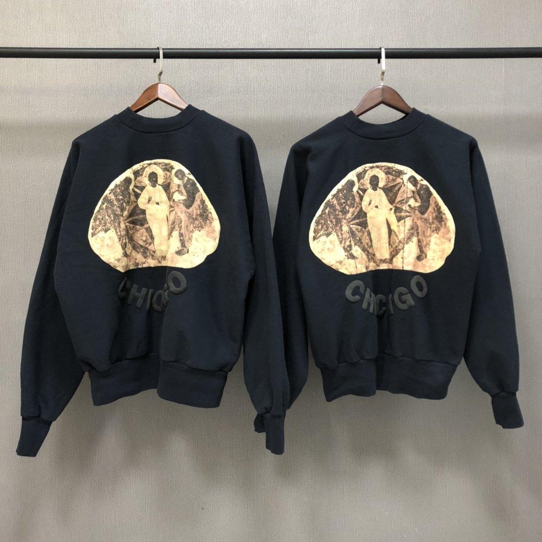 Kanye West Jesus Is King Chicago Loose Sweatshirt