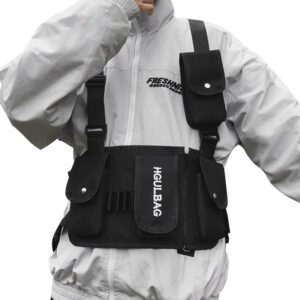 Kanye West Vest Chest Black Streetwear Bags