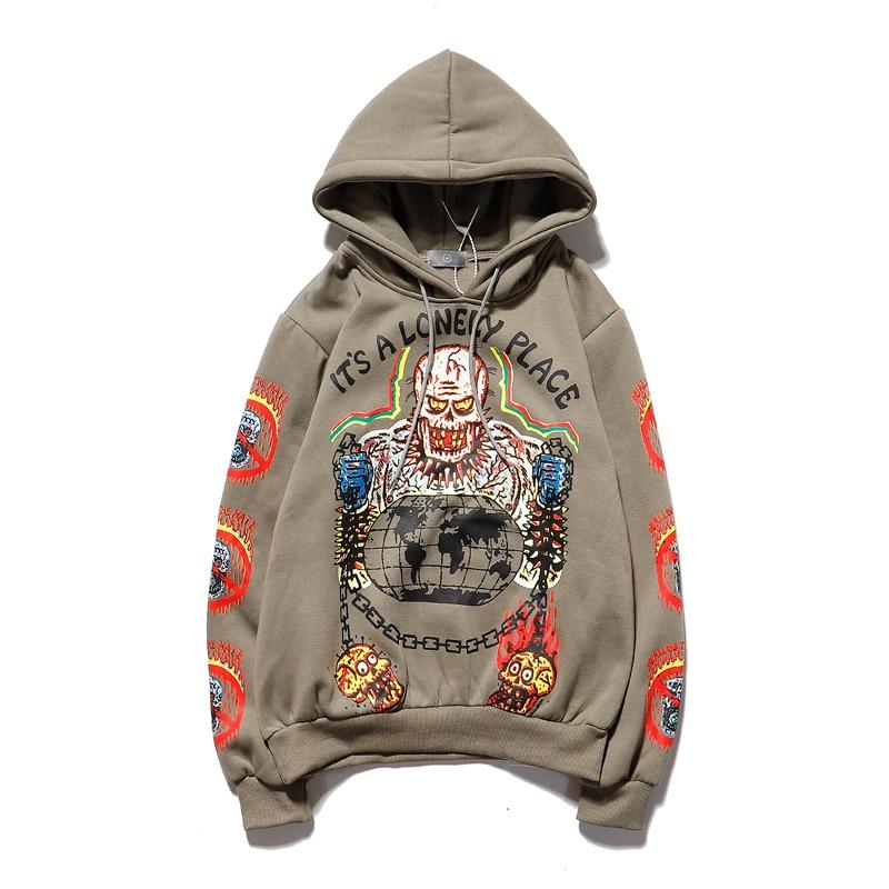 Kanye Bird Pattern Oversize Hip-Hop Hoodie