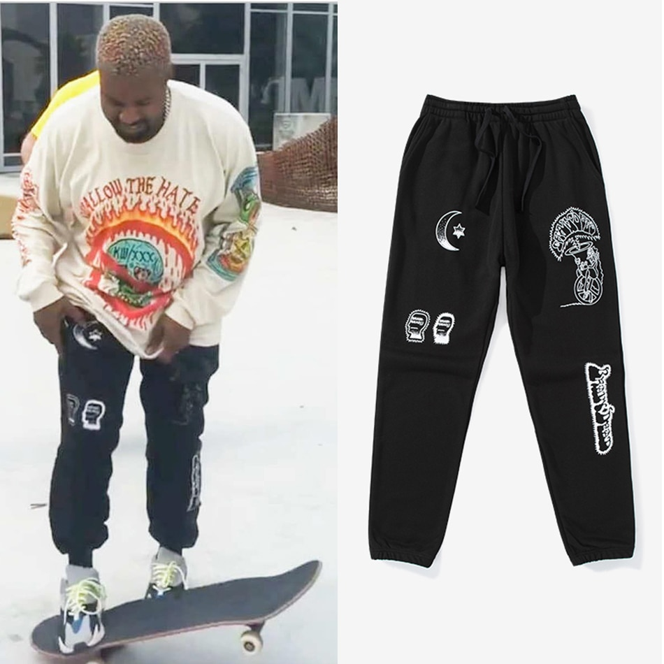 Kanye West Summer New Wave Cross-pants