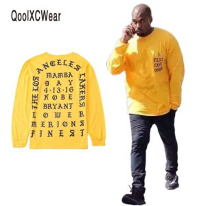 Kanye West I Feel Like Kobe Yellow Sweatshirt