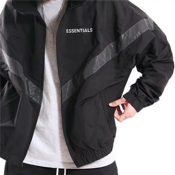 Kayne West Essentials Nylon Double Layer Top Hip Hop Jacket Coat