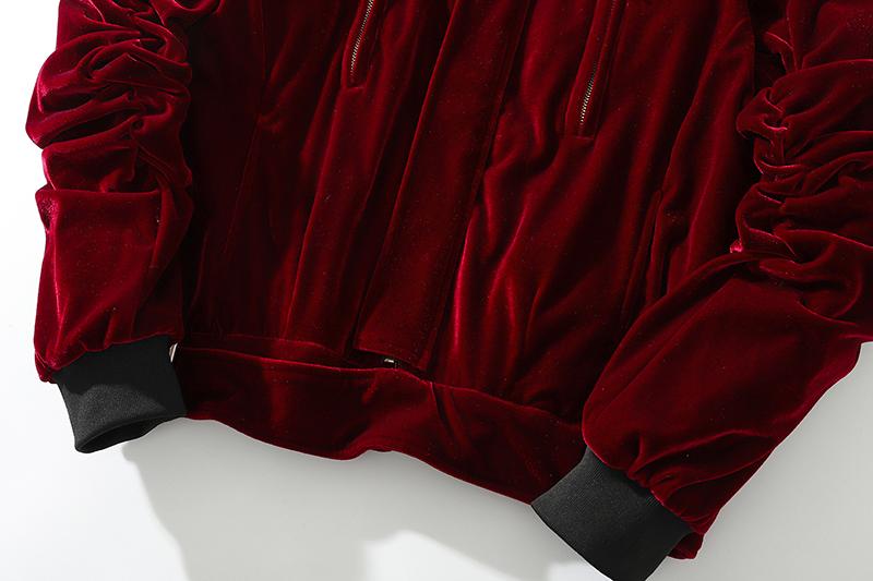 Kanye West Velvet Jacket Bomber Jacket