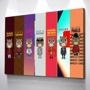 Kanye West Albums Wall Art Poster