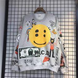 Kanye Smliey Graffiti Sweatshirt