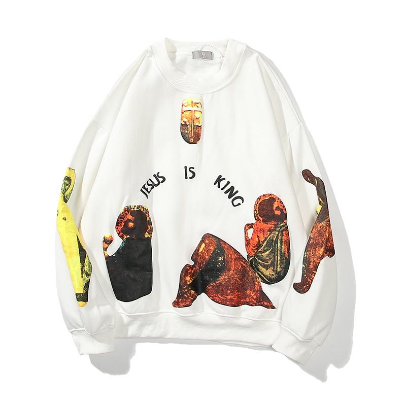 Jesus Is King Letters Printed Sweatshirt