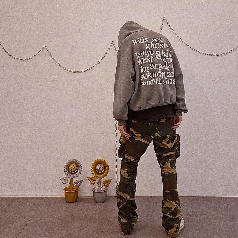 Kanye West Kids See Ghosts Letter Printed Hoodie