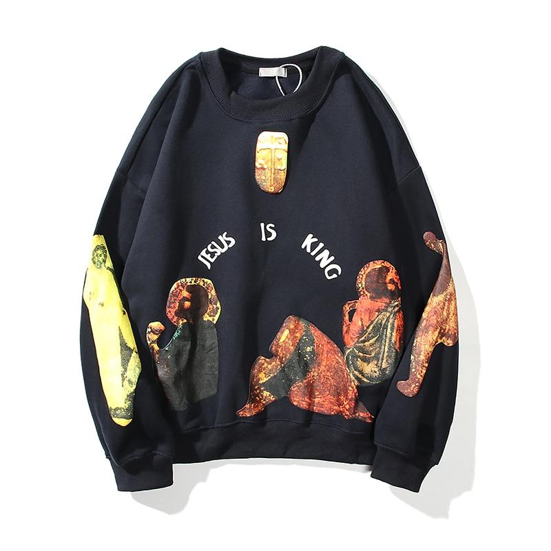 Jesus Is King Unique Printed Pullover Sweatshirt
