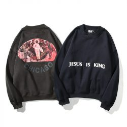 Jesus Is King Letters Printed Sweatshirt