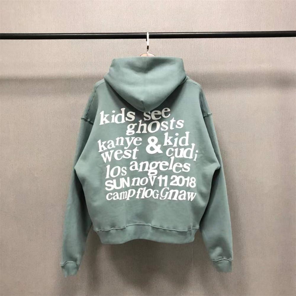 Kids See Ghost Pullovers 3d Printing KSG Logo Hoodie
