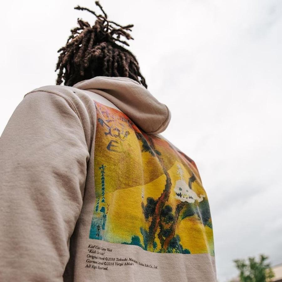 Kanye West Kids See Ghosts Flame Pattern Hoodie
